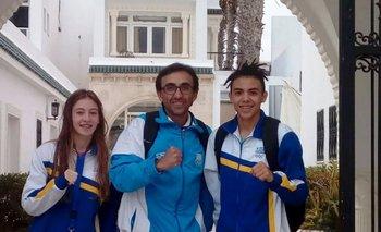 Grippoli, Votta y Fagúndez en Túnez
