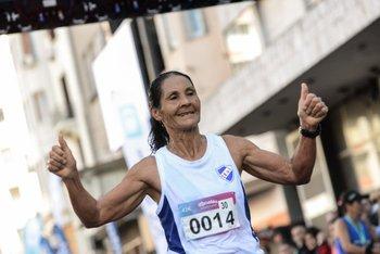 Nelly Portillo fue segunda en los 42K