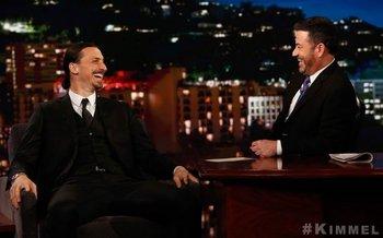 Zlatan con Jimmy Kimmel