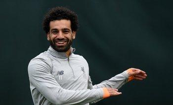 Salah en la previa del partido ante Roma por las semifinales de la Champions