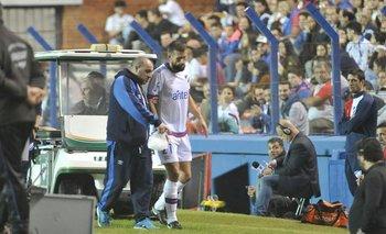 Guzmán Corujo se retiró lesionado<br>