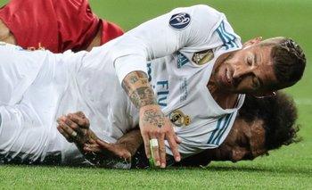 El momento de la lesión de Salah<br>