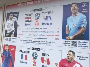 Así presentan el partido de Uruguay-Egipto