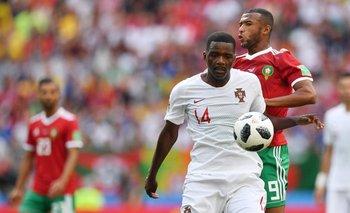 William Carvalho en el partido contra Marruecos