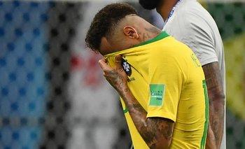 La tristeza del brasileño Neymar