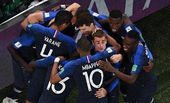 El festejo de Francia en el gol de Umtiti