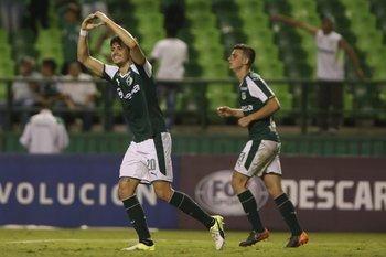 Matías Cabrera celebra su gol