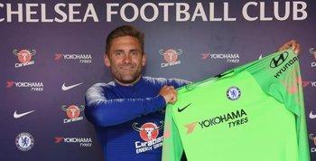Green con los colores de Chelsea