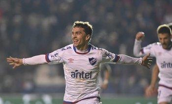 Sebastián Fernández marcó el primer gol para Nacional ante Rampla Juniors<br>