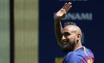Vidal en el Camp Nou