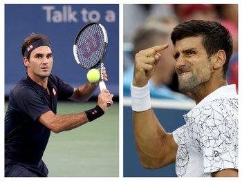 Roger Federer y Novak Djokovic<br>