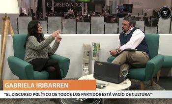 La actriz Gabriela Iribarren habló del lugar que ocupa la cultura en el orden de prioridades del gobierno. Dijo que le duele que la cultura no vaya en paralelo con el crecimiento de otros rubros.<br>