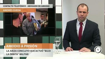 """<div>Andrés Ojeda, el abogado de Héctor Amodio Pérez, dijo que su defendido """"estaba avisado de todo el abanico posible de lo que podía venir"""".</div><div>A juicio de Ojeda, """"parece razonable"""" que la prisión sea domiciliaria ya que la jueza lo decidió así. Amodio Pérez tiene domicilio fijo en Montevideo en casa de un familiar, dijo el abogado.</div><div><div><br></div><div><br></div></div>"""