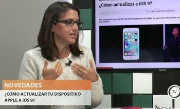 Carina Novarese, gerente de contenidos digitales de El Observador, dio consejos sobre la actualización del sistema operativo de los dispositivos Apple.<br>