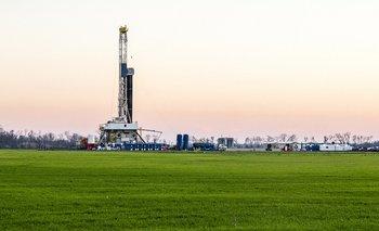 Fracking de gas natural cerca de Shreveport, Louisiana