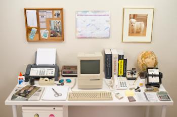 El escritorio de 1983