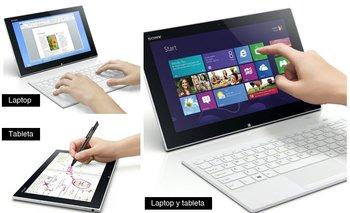 El híbrido Vaio Tap 11 de Sony puede funcionar como tableta, laptop o ambos a la vez