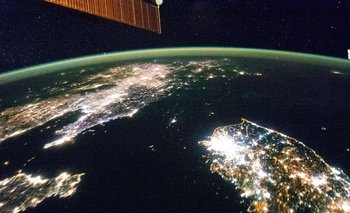 Corea del Norte vista desde la Estación Espacial Internacional