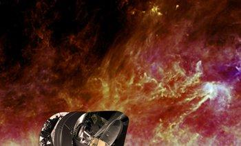 Concepto artístico del telescopio espacial Planck mapeando las microondas cósmicas