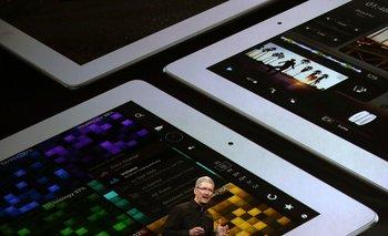 Tim Cook, CEO de Apple, durante la presentación