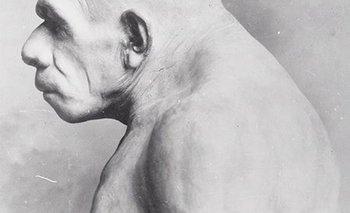 Impresión de un hombre neandertal