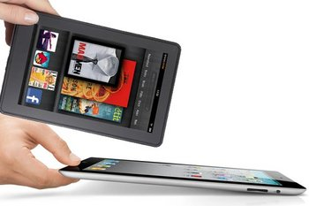 Las tabletas Kindle de Amazon y iPad de Apple