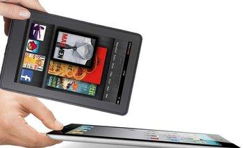 Las tabletas Kindle de Amazon y iPad de Apple