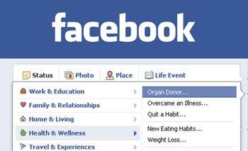 Facebook introdujo la posibilidad de incluir entre los datos que se muestran a los amigos si se es o no donante