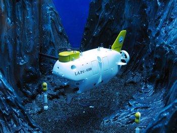 La expedición fue a bordo del minisubmarino japonés Shinkai 6500 que tiene capacidad para tres tripulantes, cuenta con brazos mecánicos y cámaras de alta resolución