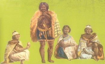 """En el libro """"Indígenas del Uruguay"""", al cual pertenece esta ilustración de charrúas, Bracco se pregunta por qué el pasado indígena del país es un misterio, aun después de años de investigación"""