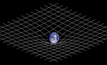 La representación de la curvatura del espacio-tiempo como una