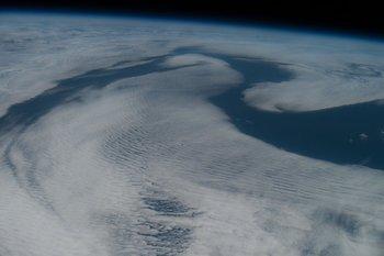 Nubes sobre el Océano Atlántico
