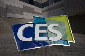 Cartel de bienvenida a la CES 2017 en Las Vegas