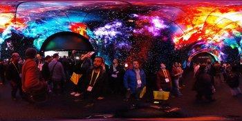 LG mostró su túnel de tecnología OLED durante la CES 2017