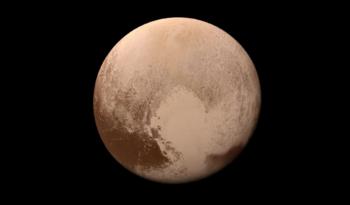 Plutón; fotografía tomada por New Horizons