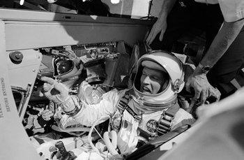 Lanzamiento de la Gemini V de la NASA, con Gordon Cooper como comandante
