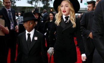Madonna y uno de sus hijos adoptivos, David Banda