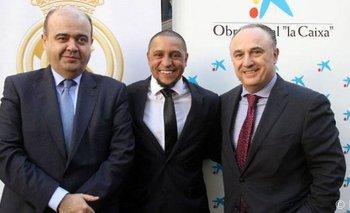 Roberto Carlos con la Fundación Real Madrid
